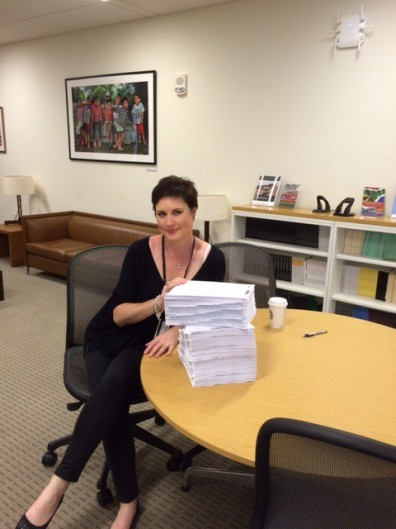 Caitlin at HIRC with Court Docs July 15